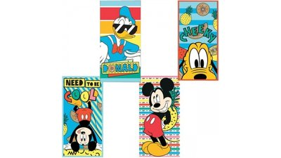 Mickey Mouse Badlaken 70x140 Assorti